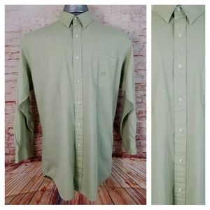 Chaps Ralph Lauren 16.5 32-33 Light Green Shirt